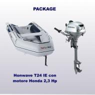Tender T24IE fondo gonfiabile con motore 2,3 Hp
