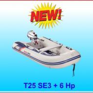 Tender T25SE fondo a listelli con motore 6 Hp