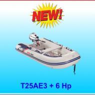 Tender T25AE pagliolo alluminio con motore 6 Hp