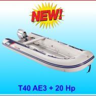 Tender T40AE pagliolo alluminio con motore 20 Hp