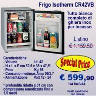 Frigorifero Isotherm CR42VB Capacità 42 litri completo di ghiera inox