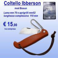 Coltello da vela acciaio inox Iberson Bosun L 110 mm