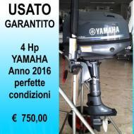 Motore fuoribordo Yamaha 4 Hp gambo corto anno 2016 serbatoio incorporato
